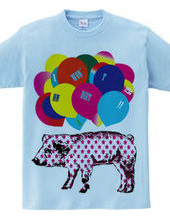 pig and palloons back printなし