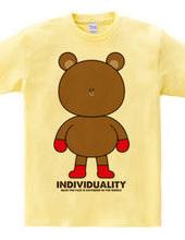 個性が大事 顔が真ん中に集まりすぎたクマデザイン