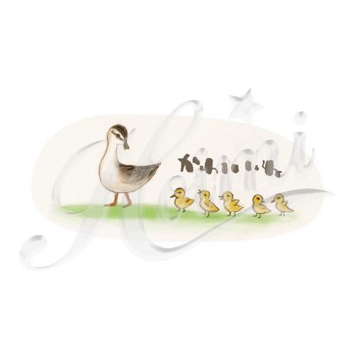 カルガモ親子 個性的で珍しいかわいいイラストデザインのオリジナルtシャツプリント Fairy House 半袖tシャツ 5 6oz デザインtシャツマーケット Hoimi ホイミ