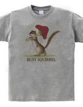 【リスTシャツ】いそがしいリスさん