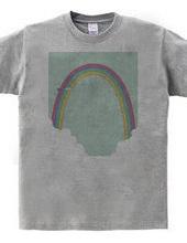 空と虹と飛行機