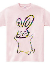 Dancing rabbit colorful
