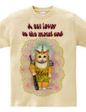 A cat lover to the metal rod