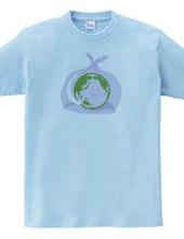 地球とゴミ袋