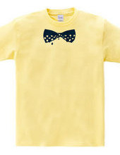 Trickling polka-dot bow ties