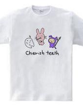 うさちの歯磨きタイム
