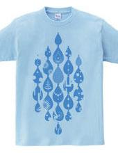 イマジネーションデザイン・涙-Water-Blue-