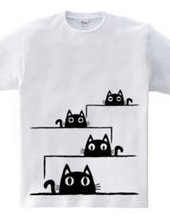 「のぞき込む猫」