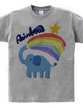 Rainbow and the elephant