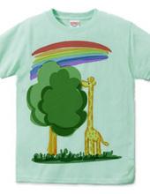 Rainbow and giraffe