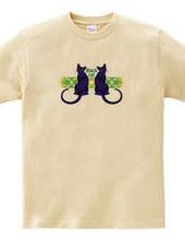 美猫のシルエット/BLACK