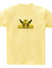 Wings of the gold on the back