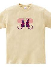 美猫のシルエット/Crimson