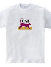 美猫のシルエット/Walking Crimson Cat
