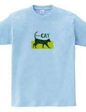 美猫のシルエット/Green Cat