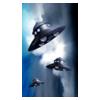 Three UFO / dark blue