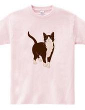 Tuxedo Cat / Square Sepia