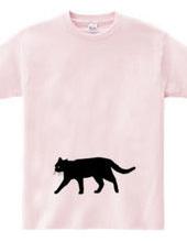 Stray cat walk (silhouette)