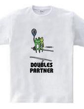テニス ダブルスなカエル