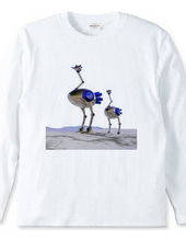 Blue ostrich Robo 004