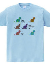チェコ的な。6匹の猫があなたにほほ笑みかけている。