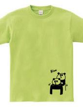 肩を揉むパンダ