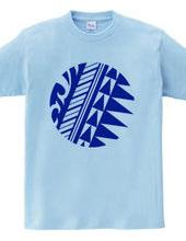 円形トライバルデザイン14-03-Blue