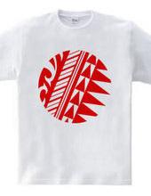 円形トライバルデザイン14-03-Red
