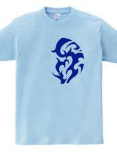 円形トライバルデザイン14-04-Blue