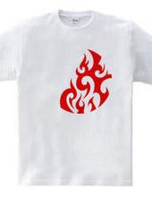 円形トライバルデザイン14-05-Red