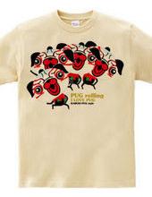 Rolling dance Kabuki Pug style