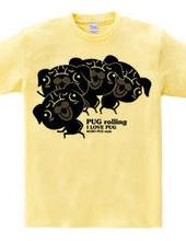 Rolling dance black Pug style