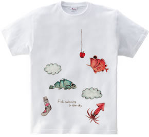 Fish swimming in the sky