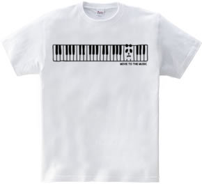 鍵盤にパンダ