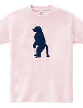 Zooシャツ|さる、何かを待つ