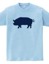 Zooシャツ|ぶたは幸せを運ぶ
