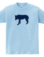 Zoo-Shirt |  A solitary wolf