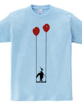 Penguin balloons and swing