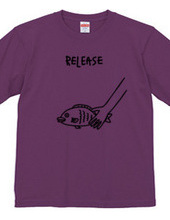 魚をリリース