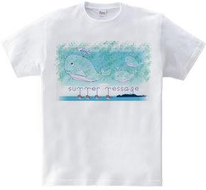 泳ぐクジラ【summer message】