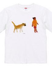 キューバの犬とおばさん