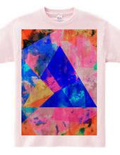 カラフル三角形Tシャツ002