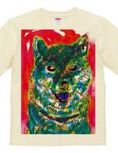 カラフル柴犬Tシャツ