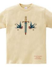 スワロー(ツバメ)とダガー(短剣)swallow & dagger