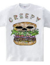 Creepy hamburger