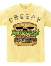 Creepy hamburger