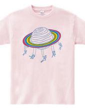 土星の回転ブランコ