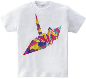 折り鶴 カラフル