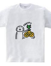 活きの良いパイナップル