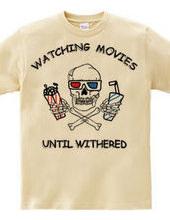 Skull watching movies